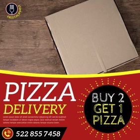 PIZZA DELIVERY Square (1:1) template