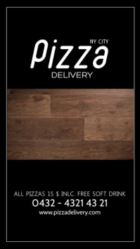 Pizza Delivery Special Restaurant Deal Ad Instagram 故事 template