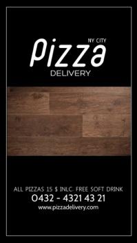 Pizza Delivery Special Restaurant Deal Ad Instagram-verhaal template