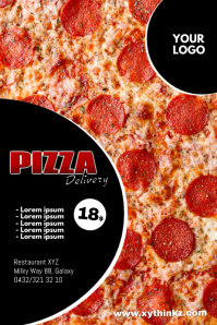 Pizza Delivery Take away Flyer Restaurant Ad