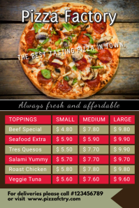 pizza shop template Poster