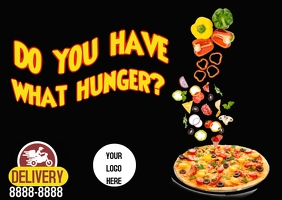 Pizza Kartu Pos template