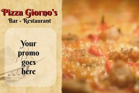 PIZZA Plakat template