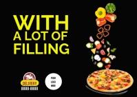 Pizza ไปรษณียบัตร template