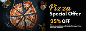 pizza facebook advertisement special offer 25 template