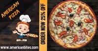 Pizza flyer Facebook Shared Image template