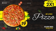 PIZZA FLYER Twitch Banner template
