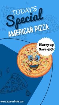 Pizza flyer Instagram-verhaal template