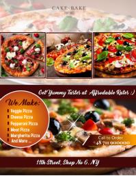 Pizza FLYER POSTER Volante (Carta US) template