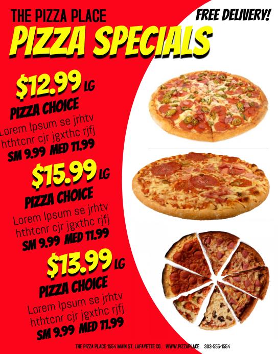 Plantilla de Pizza | PosterMyWall
