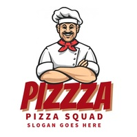 pizza food chef cook pastry logo editable Logótipo template