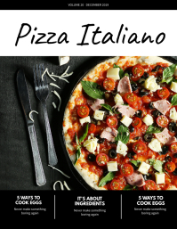 Pizza Food Magazine Cover Template