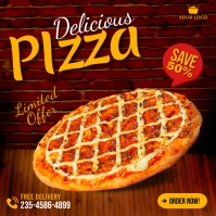 Pizza food promotion social media instagram p Quadrat (1:1) template