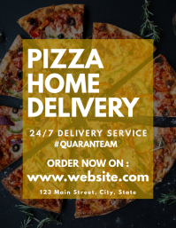 Pizza home delivery 24/7 flyer