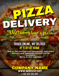 Pizza home delivery flyer