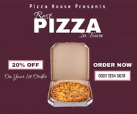 Pizza house discount medium rectangle online template