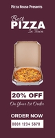 Pizza house discount Roll Up Banner online ad Bannière rétractable 2 pouces x 5 pouces template
