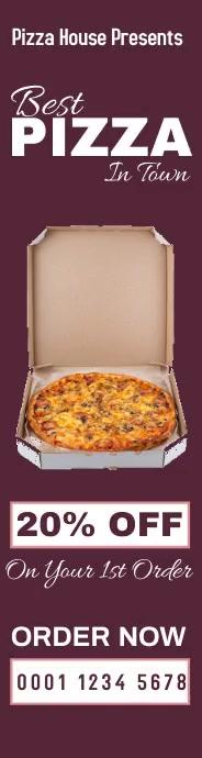 Pizza house discount wide skyscraper online a template