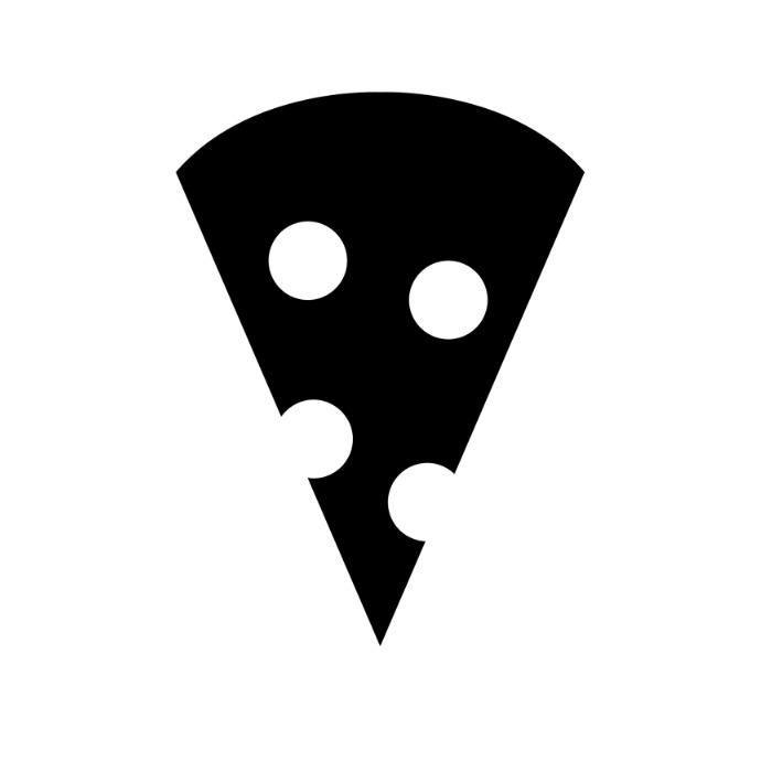 Pizza icon Logo template
