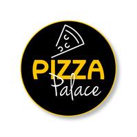 Pizza logo template