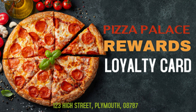 Pizza Loyalty Card Template Cartão de visita