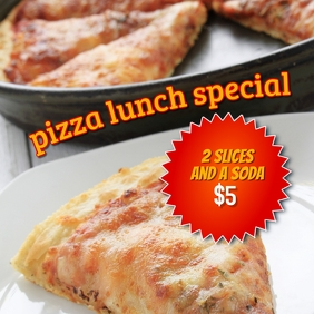 Pizza Lunch Special Deal instagram