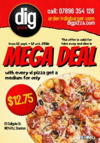 Pizza mega deal flyer