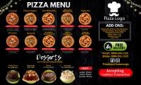 Pizza Menu Banner 美国正规 template