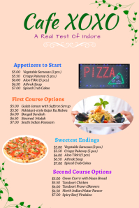 pizza menu Grafika na Pinterest template