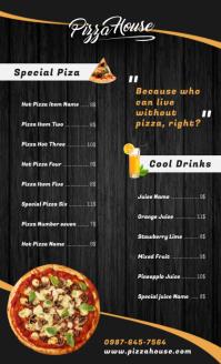 Pizza Menu Design US Legal template