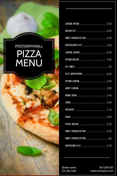 Pizza Menu Design Template