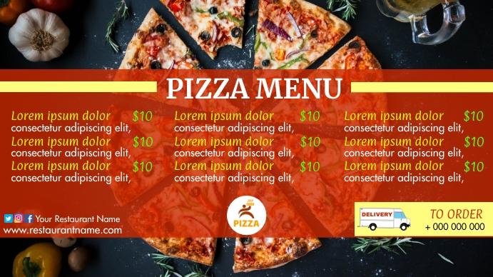 Pizza Menu Digital Display (16:9) template