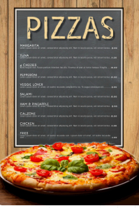 Pizza Menu Restaurant Template