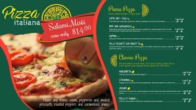Pizza Menu Video Template Pantalla Digital (16:9)