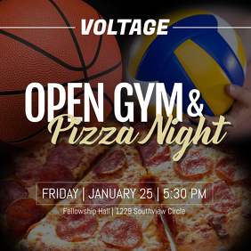 Pizza Night & Open Gym Instagram na Post template