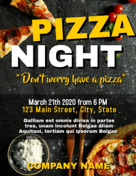 Pizza night flyer advertisement