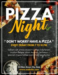 pizza night flyer advertisement