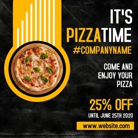 pizza night restaurant instagram post adverti template