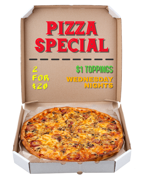 Pizza Night Special for Restaurant flyer poster ad