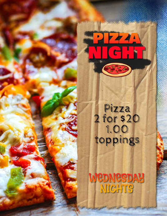 Pizza Night Special Restaurant flyer poster