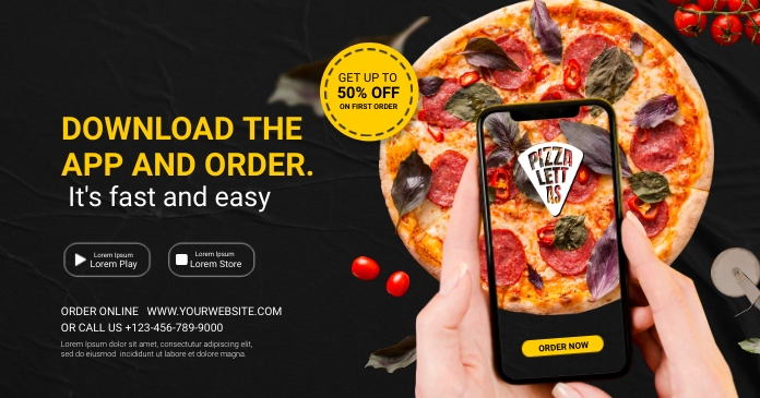 pizza order Facebook Shared Image template