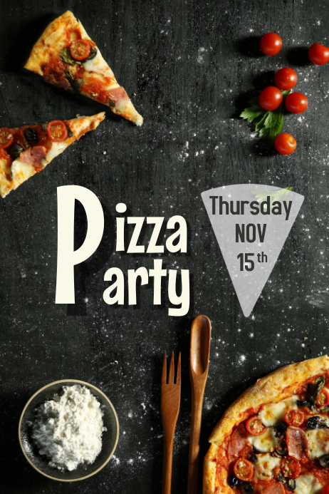 pizza party flyer template postermywall
