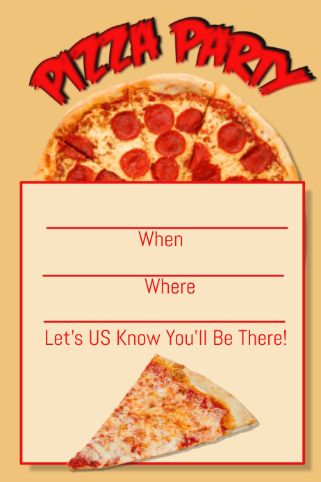 Pizza Party Flyer Yeniscale