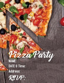 customizable design templates for pizza party postermywall