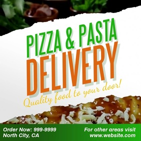 Pizza Pasta delivery facebook instagram ad template