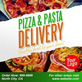 Pizza Pasta delivery facebook instagram ad