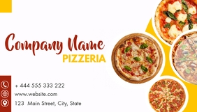 pizza place business card design template