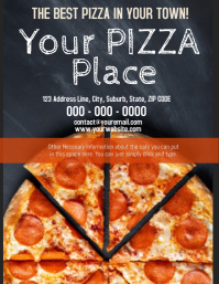 Pizza Place Cafe Cafeteria Template Volante (Carta US)