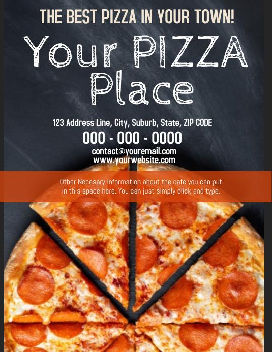 Pizza Place Cafe Cafeteria Template