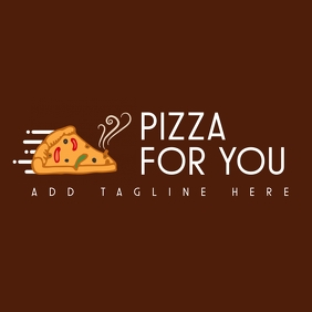 pizza place icon logo design template